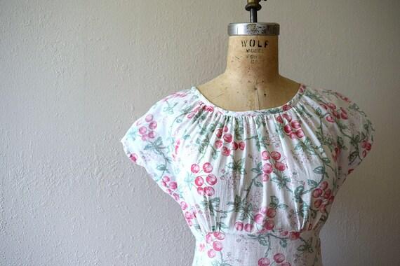 1940s cherry print dress . vintage 40s novelty pr… - image 4