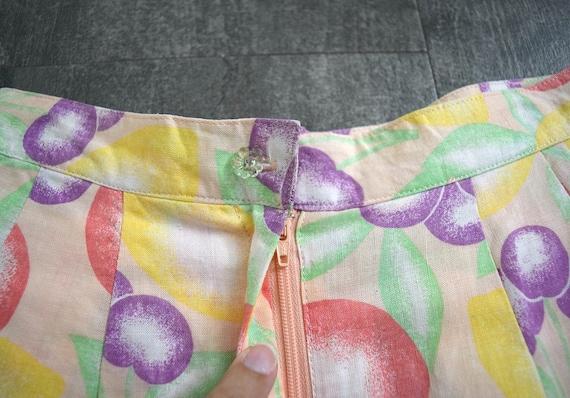 1980s 1990s fruit print shorts . vintage 1940s st… - image 3