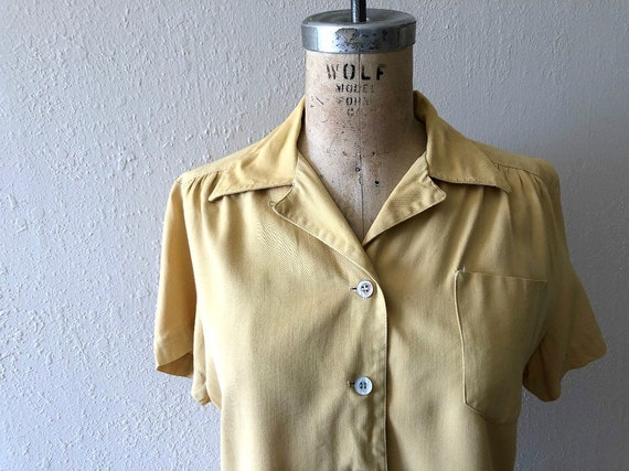 1940s gabardine top . vintage 40s rayon blouse - image 3