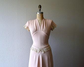 RESERVED . . . 1940s dress . vintage 40s rayon dress