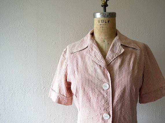 1940s seersucker suit . vintage 40s dress set - image 4