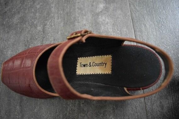 1940s 1950s shoes . vintage wedge sandals - image 5