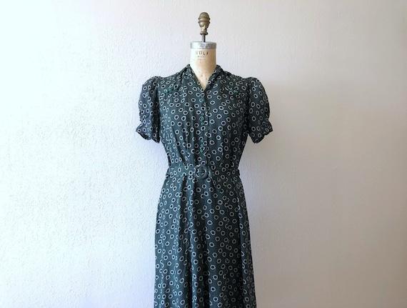 1930s 1940s dress . vintage 30s 40s dress