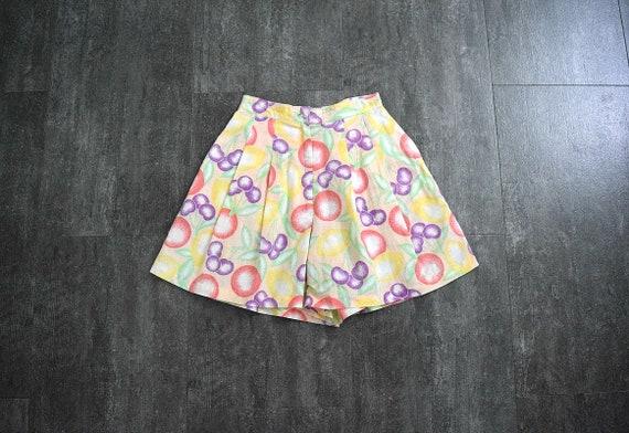 1980s 1990s fruit print shorts . vintage 1940s st… - image 2
