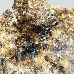Lazulite in Quartz with Pyrite Pendant
