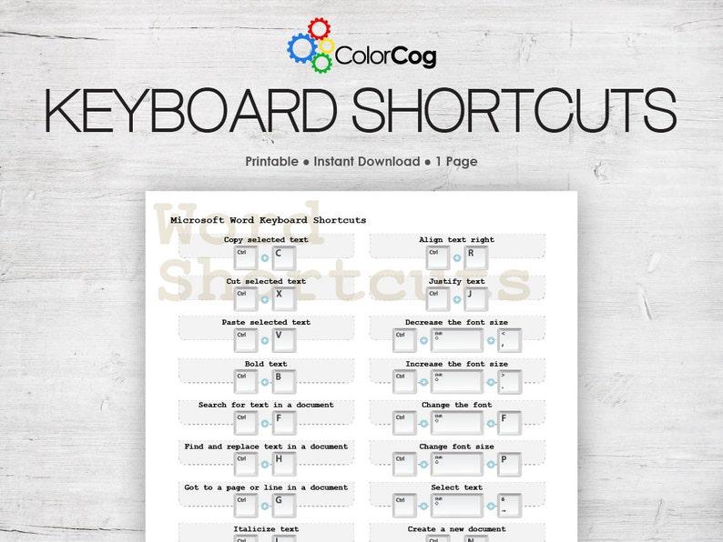 photo about Keyboard Printable identified as Microsoft Phrase Keyboard Shortcuts Printable PDF