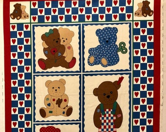 """PATCHES THE BEAR PANEL 36/""""x44/"""" soft toy 100/% cotton SEW /& GO 26616 K"""