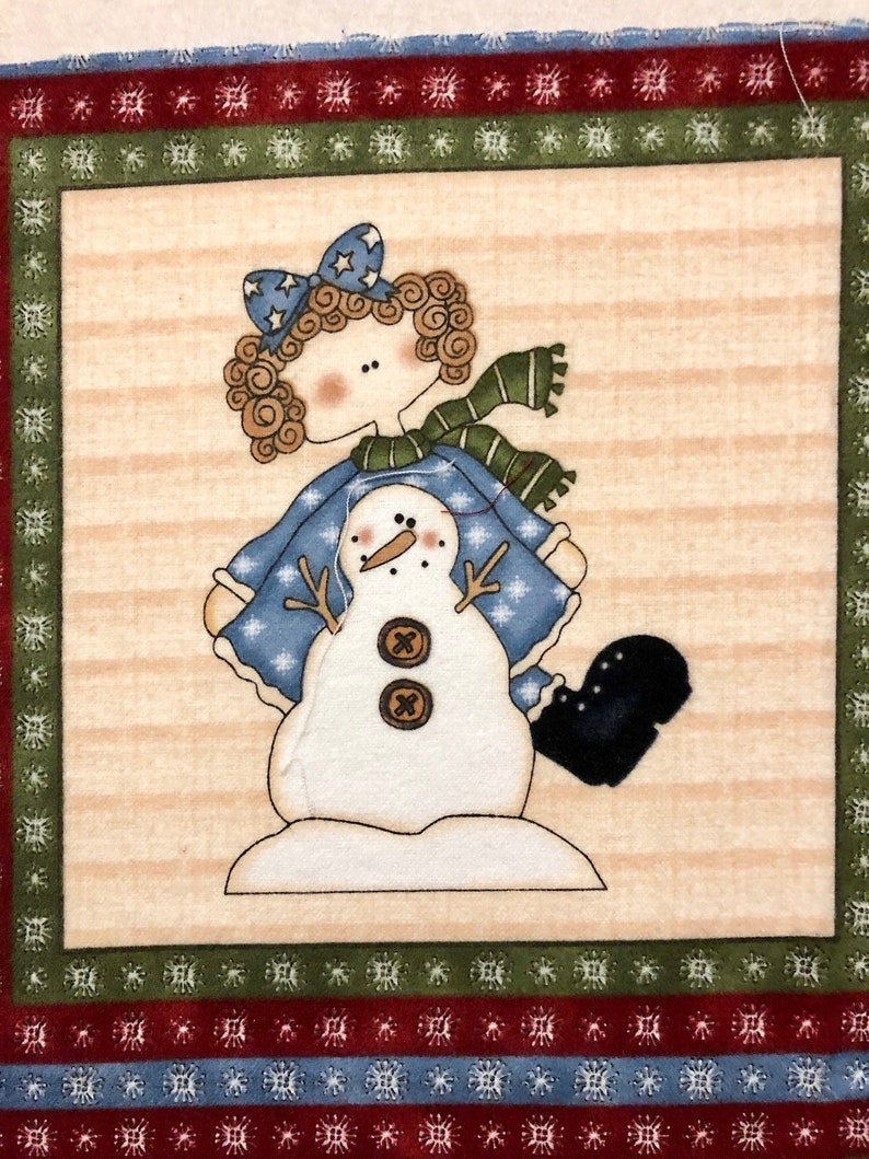 "Toys Toys Toys Snowman FLANNEL Christmas Northcott Fabric Panels 23/"" F3801"