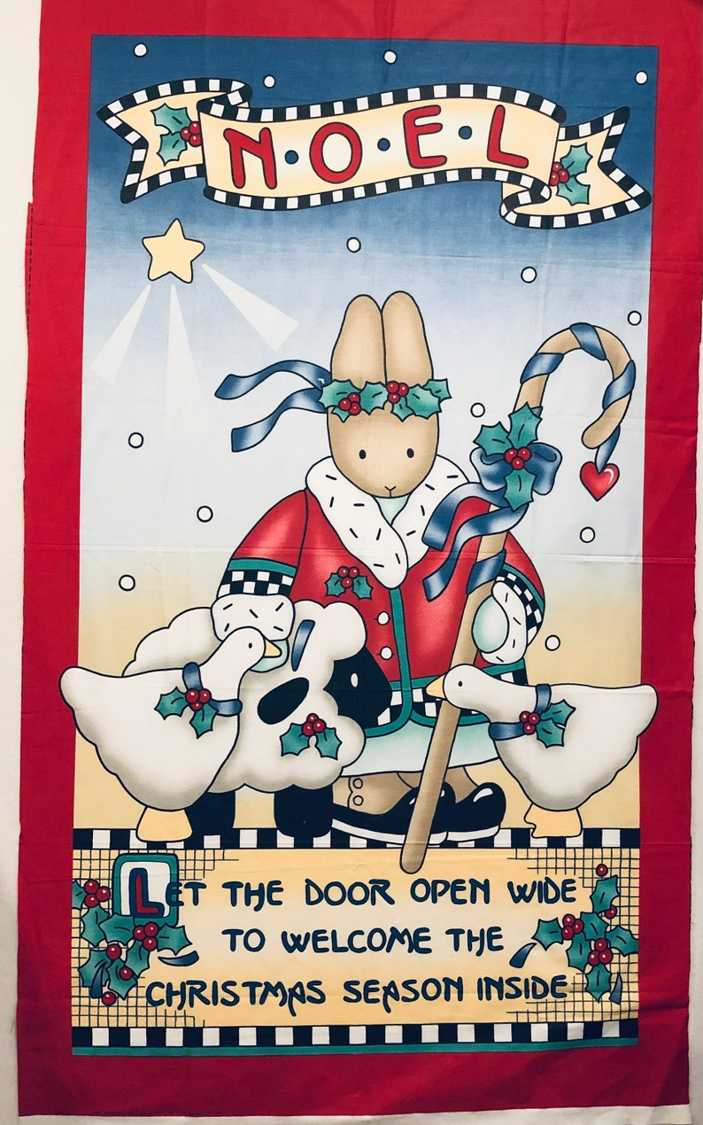 Noel Christmas Collection by Nina Out of Print 36 x 60 Vintage Daisy Kingdom Welcome Door Panel
