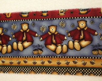 Debbie Mumm Fabric Border - Bears and Bees - OOP