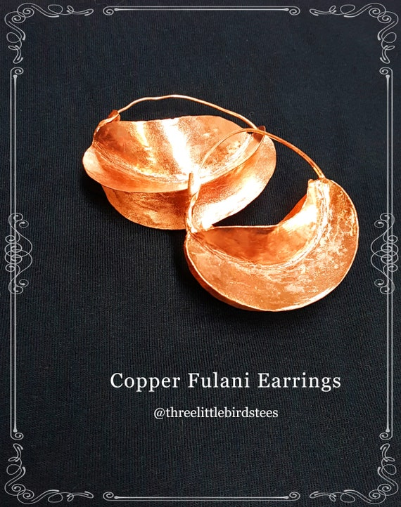 Extra Large Copper Fulani Earrings