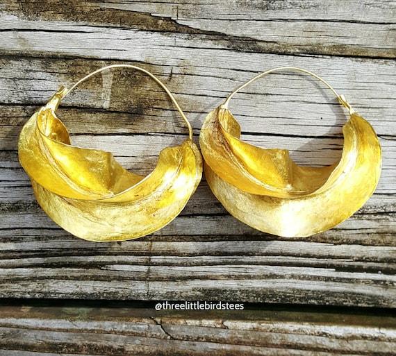 Fulani Earrings Bronze Extra Large