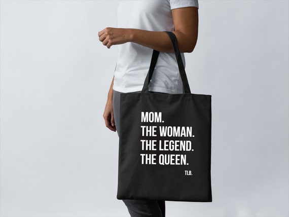 Mom The Woman The Legend The Queen Lightweight Canvas Tote Bag