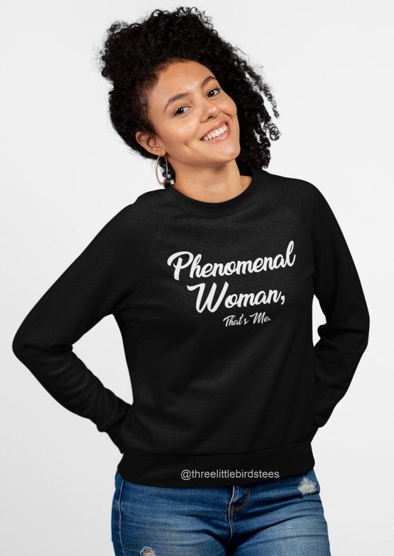 Phenomenal Woman Maya Angelou Crew Neck Sweatshirt