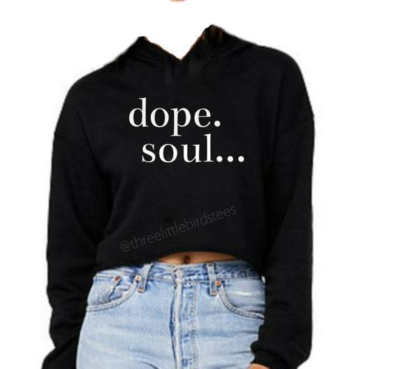 Dope Soul Cropped Fleece Hoodie