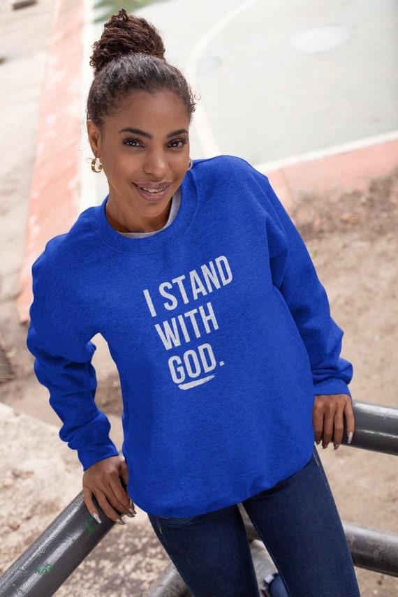 I Stand With God Unisex Crewneck Sweatshirt