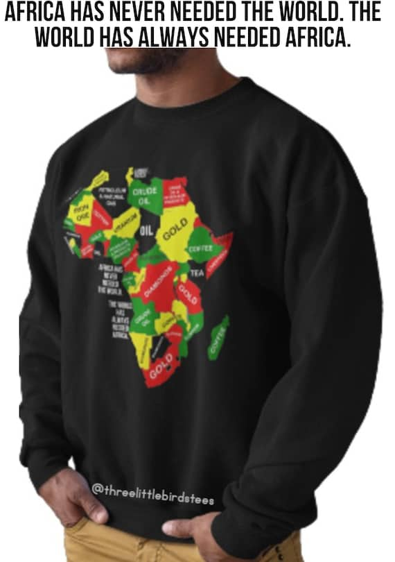 Mother Africa Continent Crew Neck Sweatshirt