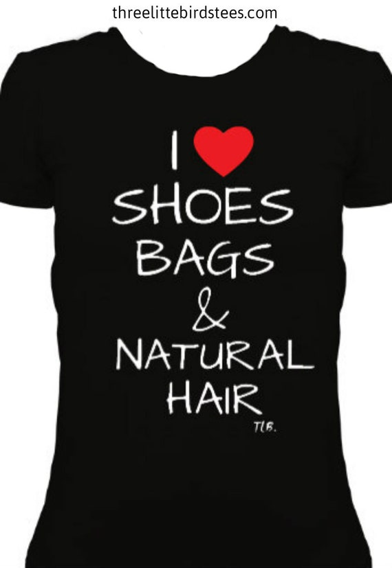 I heart shoe bags & natural hair scoop neck