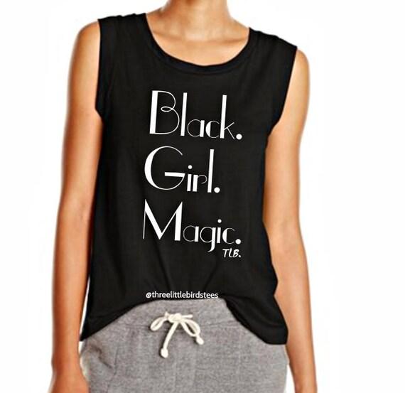 Black Girl Magic Cap Sleeve Crew Tee