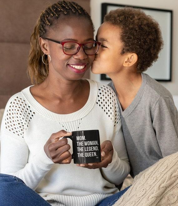 Mom The Queen Black mug 11oz