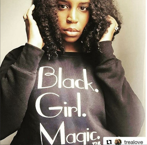 Black Girl Magic Off Shoulder Sweatshirt