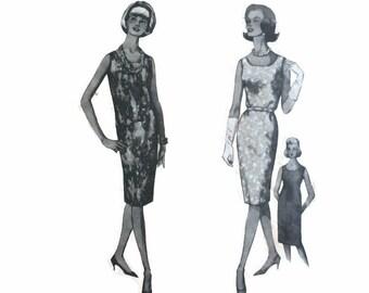 c5a1cc15a6138 1960s SIMPLICITY 5511 Womens SHIFT dress sheath mod retro Vintage Paper Pattern  1960s bust 31 32 33 empire style