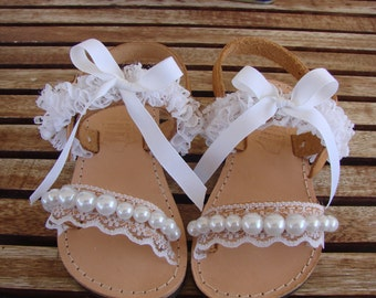 Greek Leather Sandals, Leather Flower Girl Sandals, Flower Girl Sandals, Childrens Leather Sandals, Baby Sandals, Baby Leather Sandals, Girl