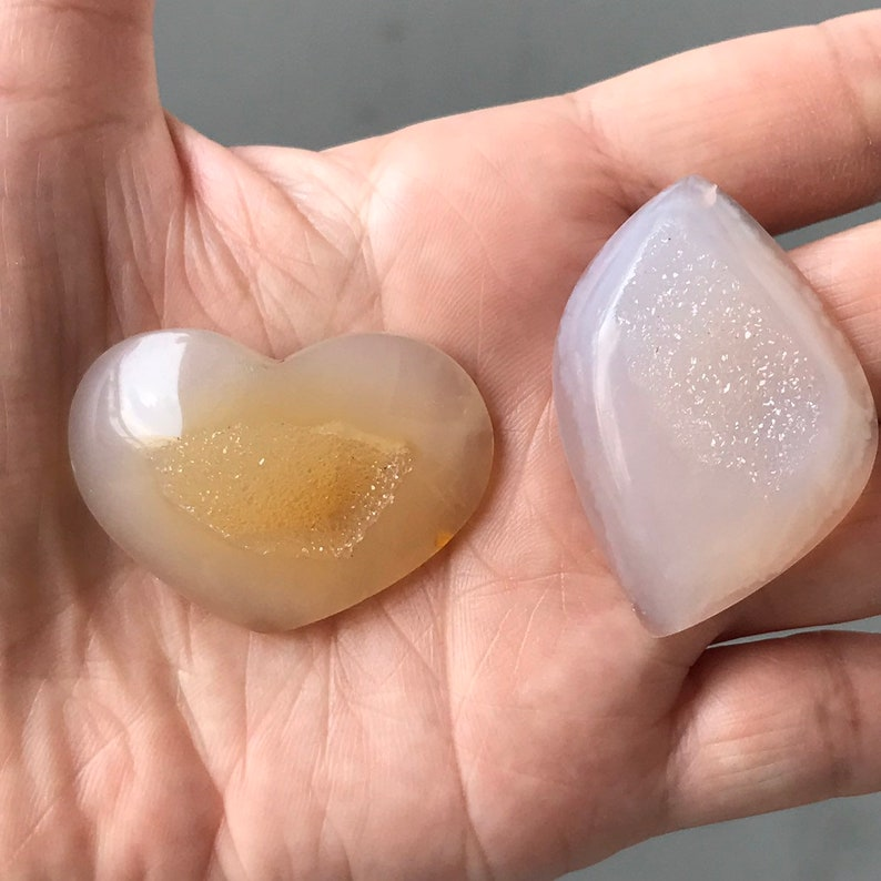 Beautiful Drusy Set Stones
