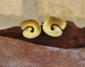 Infinity Spiral stud earrings