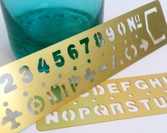 Gold Metal Stencil Ruler
