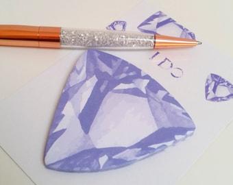 Purple Watercolour Gemstone Sticky Notes