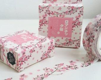 Bella rosa fiori di ciliegio fiore Washi Tape