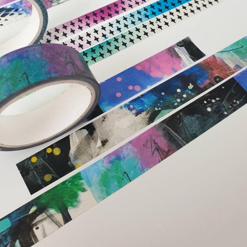 Mixed Media Style Arty Washi Tape Set of 3