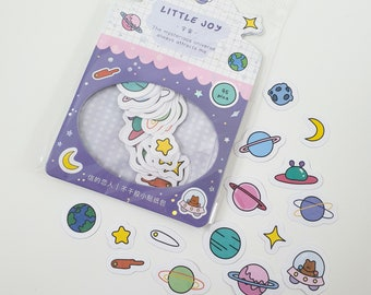 Cute Space Planet Sticker Flakes
