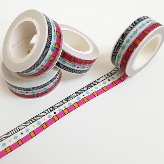 Bright  Bohemian Tribal Pattern Washi Tape