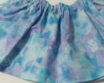 Blue  Purple Baltic  Cotton Fabric BabyTutu  Skirt