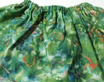Green Blue Paint Baltic  Cotton Fabric BabyTutu  Skirt