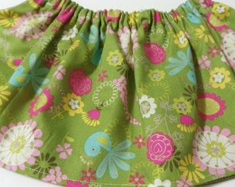 Sage Green Floral  Baltic  Cotton Fabric BabyTutu  Skirt