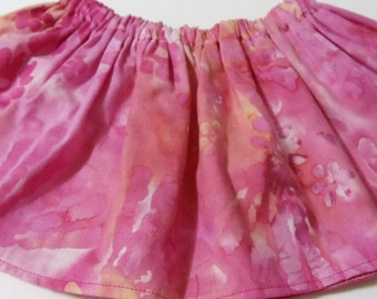 Pink Paint Baltic  Cotton Fabric BabyTutu  Skirt