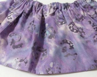 Purple Paint  Baltic  Cotton Fabric BabyTutu  Skirt