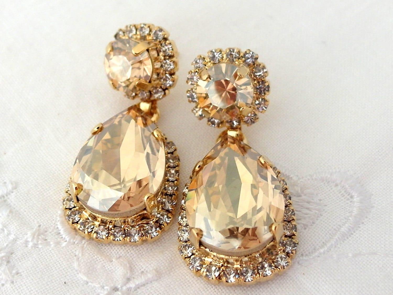 c5fae0ecf Champagne earringsChandelier earringsChampagne bridal | Etsy