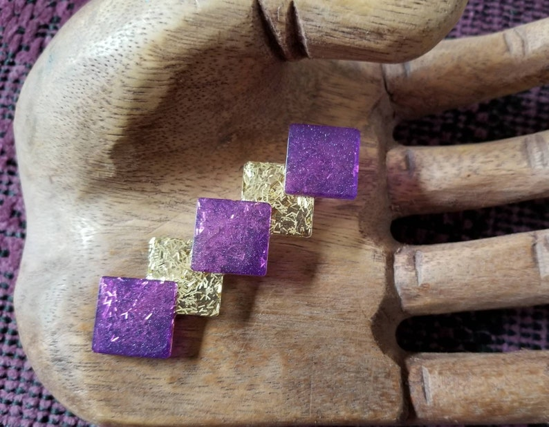 Purple and Gold Hairclip