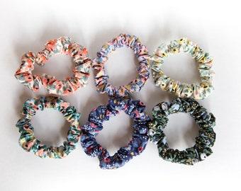 Skinny Scrunchie Set - Rosa Rifle Paper - Mix and Match - Floral scrunchie