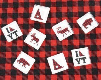 Set of 4 Magnets - I Heart Yukon
