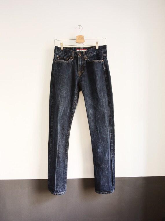 8a94e8b331d 28x31 Tommy Hilfiger Mid-Rise Straight Leg Jeans Dark Denim