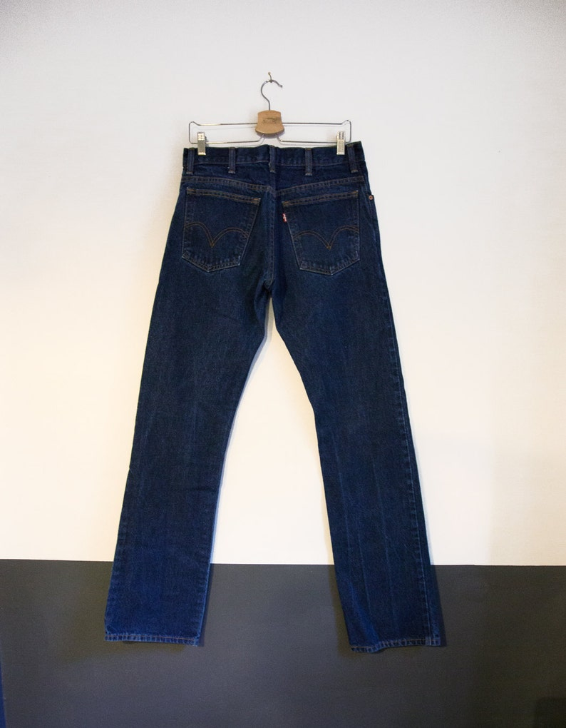 32x36 Levi/'s 517/'s Red Tabs  32.5 x 36 80s 90s Vintage High Waisted Dark Denim Jeans 517