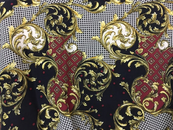 Vintage 1980s Puffy Bomber Jacket Baroque Versace… - image 5