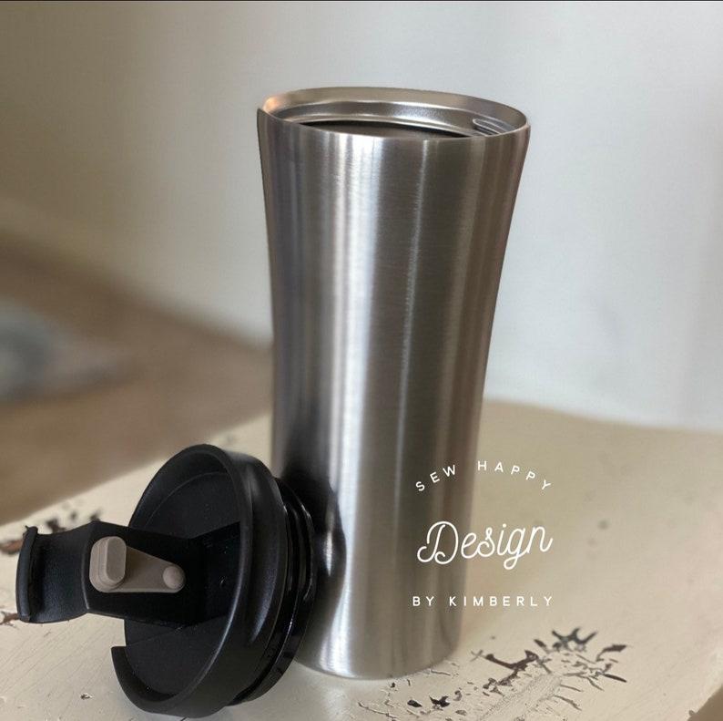 Ariel inspired custom tumbler with UV reactive glitter