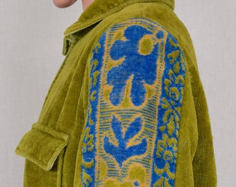 Rare Vintage 1960's Men's SILTON Men's Velour Tapestry TeRRY CLoTH SuRfeR BeaCH CaBaNa Pool HIPPiE Hipster Jacket Size M