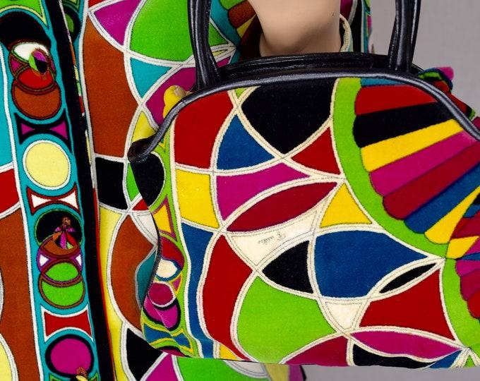Vintage 1960's EMILIO PUCCI Jana VeLvEt Stained Glass PsYcHeDeLiC MoD Handbag Purse
